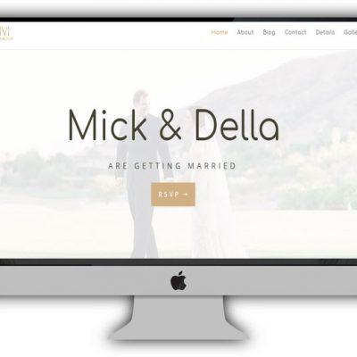 Divi Wedding Website Layout